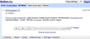 Google Reader\'s Audio Player